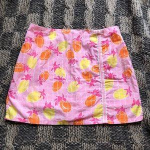 Vintage Lilly Pulitzer Pink Pineapple Skort Skirt